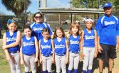 Minor league softball includes coaches Syndi Barrera, who is the MYC Little League President and Edwin Sanchez.