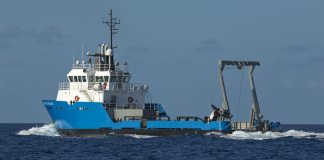 Explorers boldly go where no man has gone before - A large ship in a body of water - Fishing trawler