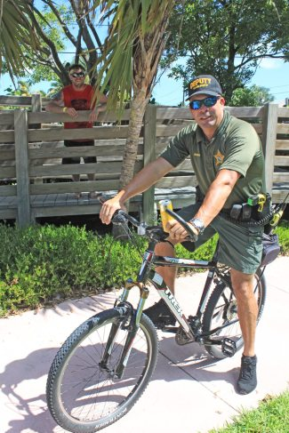 Monroe County Sheriff deputy Willie Gonzalez ditches the boat in favor of two wheels to keep the peace.