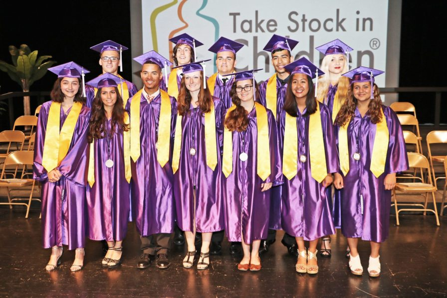 Steven Pribramsky, Monroe County Education Foundation President, told the graduates, 'We want you to have unlimited opportunity in your life.' The students shown here are the 2015 Named Scholars.