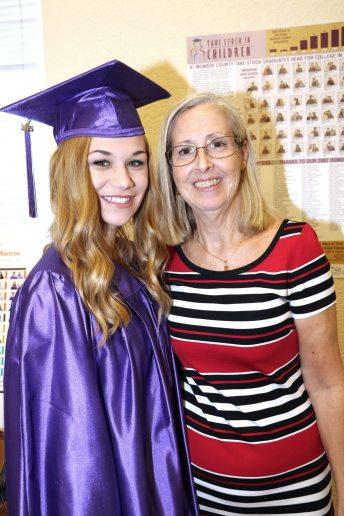 Marathon High School Graduate Kiley Platt smiles alongside mentor Patty Baragwanath.