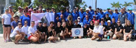 Mote Marine teams up with Combat Wounded Veteran Challenge (CWVC) and students from Scubanauts International to plant coral on a reef off Big Pine Key on Monday.