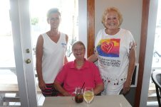 Lorie Rouse, Julia Davis and Jodi Rae Campell enjoy the company of the GNO ladies.