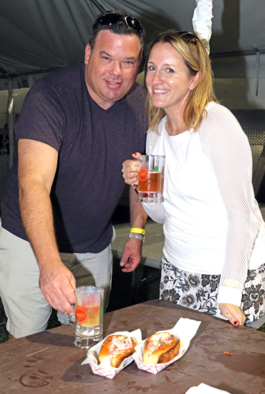 Sean and Allison Sayer enjoy the food and drink.