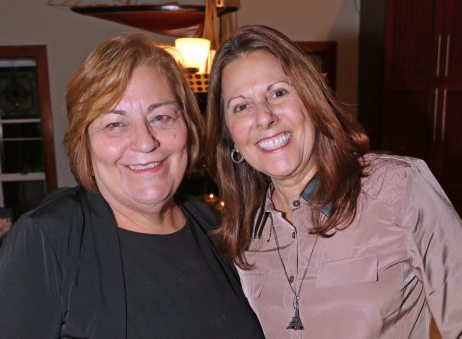 Developmental Manager for the American Cancer Society Julie Cuneo stands with past manager Carrie Helliesen, right. Both are looking forward to the very successful fundraising event.