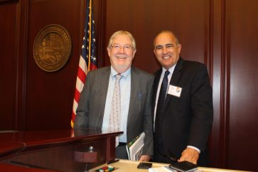 Monroe County Mayor Pro Tem George Neugent and County Administrator Roman Gastesi were among 75 Keys officials who traveled to the state capital for Florida Keys Day on February 17th.