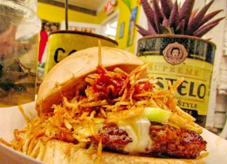 Frita's is like a visit to abuela's backyard - A plate of food on a table - Vegetarian cuisine