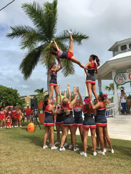 The Key West High School cheerleaders wow the crowd.