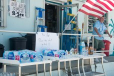 Water and what food could be found graced the donation table in front of Summerland Ace Hardware. The store was able to open Just two days after the storm, though supplies were understandably low.