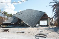 The roof collapsed on this Ramrod Key house.