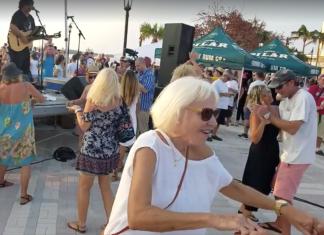 Dancing at Mallory Square post Hurricane Irma