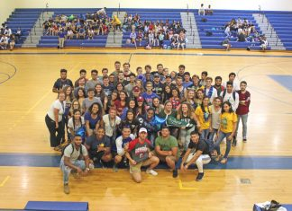 Marathon Class of 2018 - A group of people on a basketball court - MARATHON MIDDLE HIGH SCHOOL