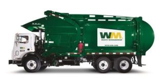 Everything comes around … - A green truck is driving down the road - Waste