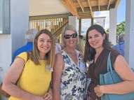Yuri Mikolay, of Ocean Reef Community Foundation, Florida Keys Land Trust, and Florida Keys Hurricane Recovery Foundation, left, Community Foundation of the Florida Keys' Dianna Sutton, and United Way's Leah Stockholm all added funding to the housing project.