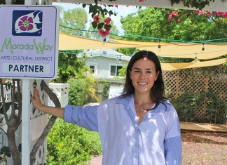 MORADA WAY INTERIM DIRECTOR TALKS ISLAMORADA ART - A person standing in front of a sign - Florida Keys