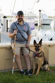 Veteran Lou Orrie, with pal Becker, will spend two days fishing in the Keys.