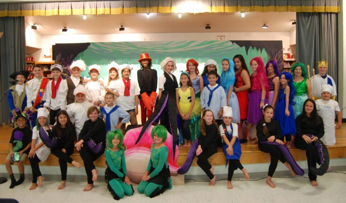 The Little Mermaid Comes Alive at Switlik Elementary - A group of people posing for a photo - Stanley Switlik Elementary