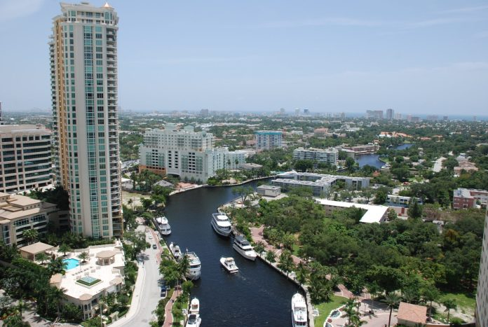 Duval Street promenade pilot approved by city commission - A large body of water with a city in the background - The Las Olas Grand Condominium