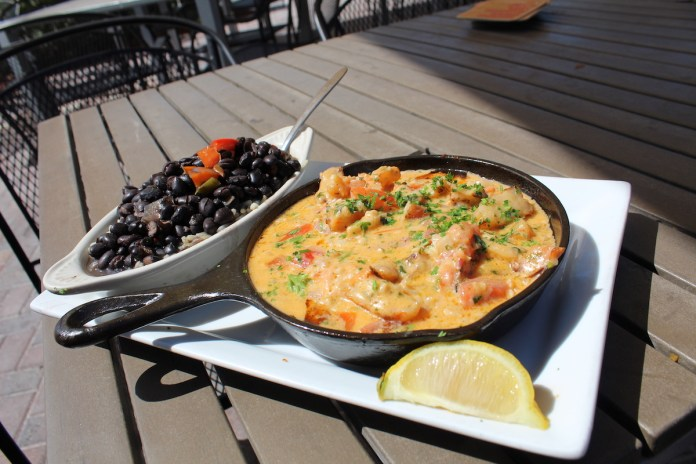 Keys Eats: Ballyhoo's Offers Great Seafood With a Side of Southern Hospitality - A pizza sitting on top of a plate of food - Vegetarian cuisine