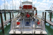 The dive boat used by Florida Sea Base sits docked. JIM McCARTHY/Keys Weekly
