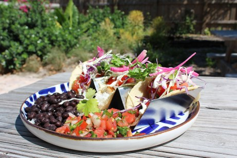 Taco plates comes with three handmade corn tortillas with sides of basmati rice and black beans. JIM McCARTHY/Keys Weekly