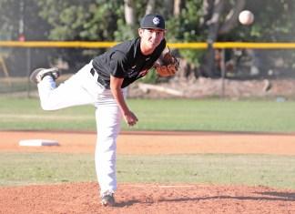 Canes baseball season hits final stretch - A baseball player throwing a ball - Pitcher