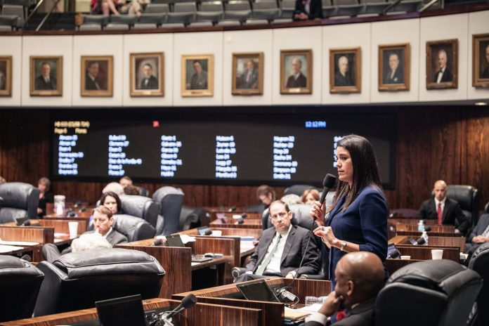 EYE ON TALLAHASSEE – 50/50 bill, Citizen Insurance bills in committee - Joe Negron et al. sitting at a table - Anitere Flores