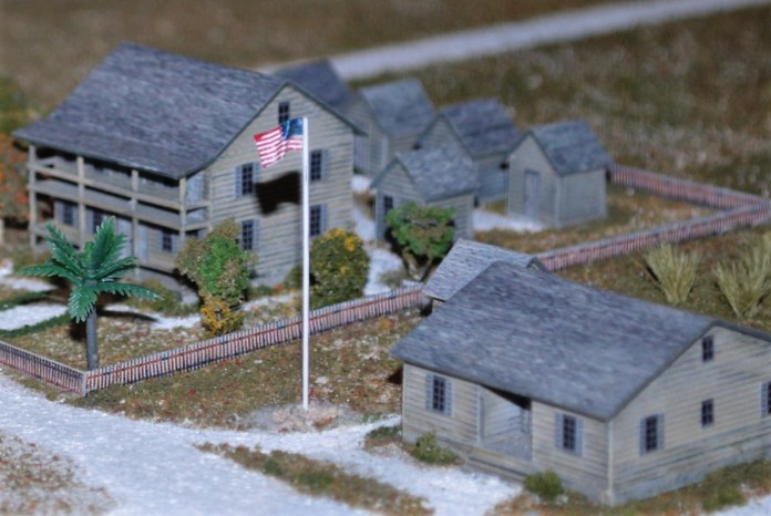 STAR-SPANGLED BANNERS - A house covered in snow - Scale Models