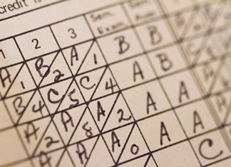 School board considers paperless report cards - A close up of text on a white surface - Report card