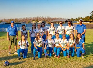 Marathon JV softball - A group of people posing for the camera - Team