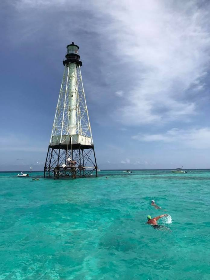 Reef Light Foundation talks mission - A large ship in a body of water - Alligator Reef Light House