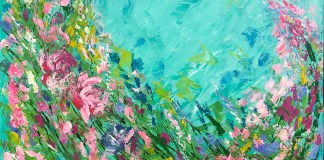Marathon Artist Krystal King Wows with New Work - A close up of a flower - Art