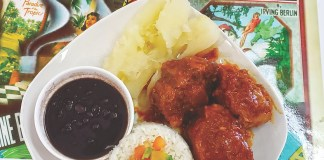 The best Cuban food is found at Juice Paradise - A plate of food - Cuban cuisine