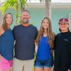 """""""He's set a good example, he's always provided for us, and he always gets us laughing,"""" said Lisa Ziels about her flats fisherman husband, Todd Ziels. He made it to every meet, game, and competition he could when his son Dylan played baseball and when his daughter Hannah competed in swim team, weightlifting, and track. (Hannah just graduated from Marathon High School!)"""