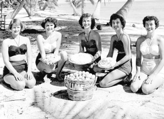 The First Key Lime Festival - A group of people sitting posing for the camera - Florida Keys