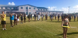 Putting the Band Back Together – KWHS Marching Band prepares for the field - A group of people playing frisbee in a park - Florida Keys