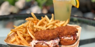 Consider the Lobster Roll – The Good, the Better and the Best - A close up of a sandwich and fries on a table - French fries