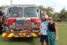 A NIGHT OUT – Key Largo community meets with first responders - A person standing in front of a truck - Weekly Newspapers