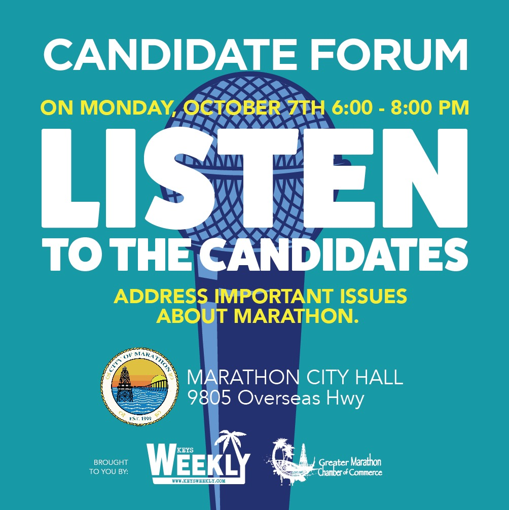 advertisement for the candidates forum
