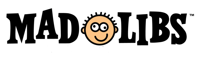 Local celebrities agree to play a round of Mad Libs - A drawing of a face - Logo