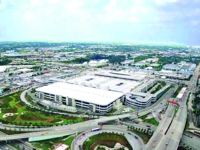 Overhead shot of Miami Airport