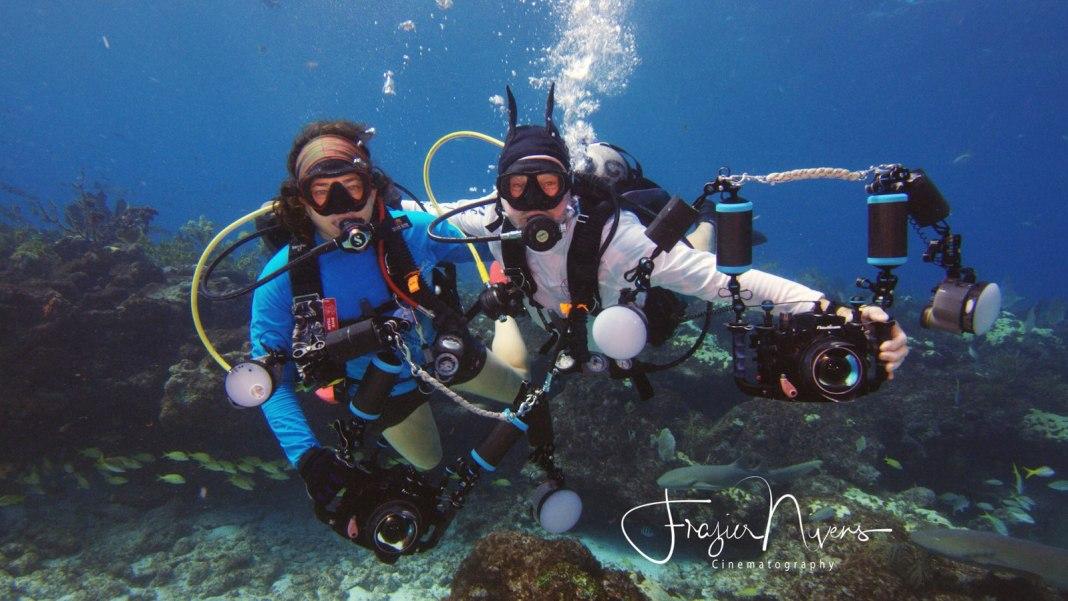 Autumn Blum and John Nussbaum dive together