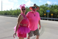 PINK ARMY – Inaugural bra walk in Key Largo sees large support - A girl wearing a pink shirt - Car