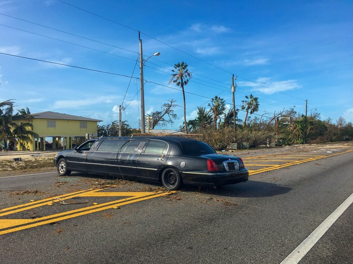 A car parked on the side of a road - Luxury vehicle
