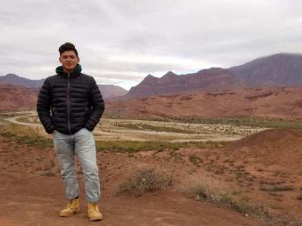 Luis Parrado of Marathon High School explored the expansive dunes of Salta, Argentina during his Experiment trip that included more than 30 hours of community service. Contributed photo