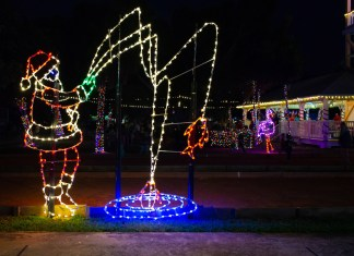 Every year, the City of Marathon adds to its collection of holiday light displays. Tight lines, Santa.