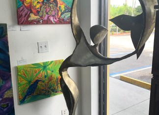 Sculpture donated to bird sanctuary on display in gallery