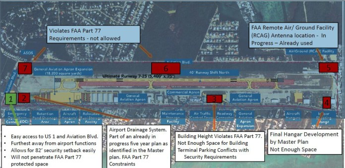 County selects Marathon airport as new EOC location - A black sign with white text - Map