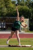 Riley Dobson performs during the shot put competition on March 6 at Coral Shores. AUSTIN ARONSSON/Keys Weekly