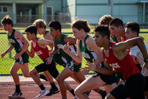 Runners take off from the start during the track and field meet versus Pace and Somerset at Coral Shores. AUSTIN ARONSSON/Keys Weekly